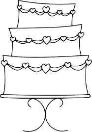 Wedding Cake Color Pages Free Printable