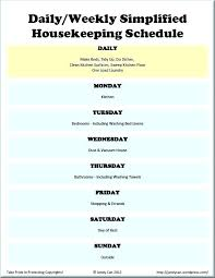 Weekly Household Cleaning Schedule House Cleaning Calendar Template Weekly House Cleaning Schedule