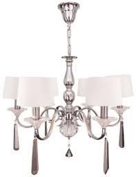 rv astley 6 arm nickel and black crystal chandelier