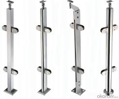 handrail barade with glass clamp