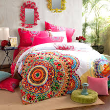 hot pink white fl queen size brushed cotton bedding red flower duvet set poppy cover and black