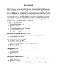 hvac technician resume resume format download pdf