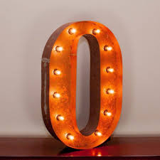 24 marquee letter lights 24 letter o lighted vintage marquee letters with screw on sockets 1 v=
