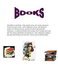 my hobby is books verca