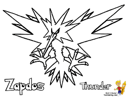 Small Picture Zapdos Coloring Pages Coloring Coloring Pages