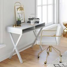 White gray solid wood office Furniture Kalos Home Office Computer Desk Or Makeup Vanity Table For Small Spaces White Modern Wood Finish Walmartcom Ebay Kalos Home Office Computer Desk Or Makeup Vanity Table For Small