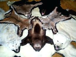 wolf skin rug rugs faux