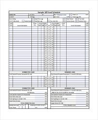 Distribution Board Circuit Chart Template Sample Panel Schedule Template 7 Free Documents Download