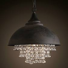loft pendant lights crystal retro