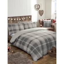 338354 338355 oakland check duvet set grey