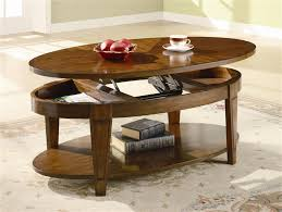 oval lift top coffee table in cherry finish by coaster 701308 with cocktail design 16