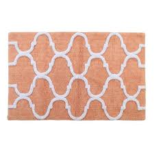 50 in x 30 in bath rug cotton in c and white