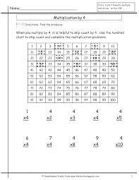 Grade 3 Math Worksheet Multiplication Tables Of 4 6 Learning Skip ...