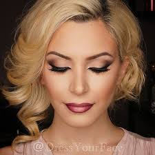 wedding make up dramatic and vine look