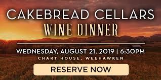 Chart House Cakebread Cellars Wine Dinner Weehawken Nj