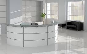 curved office desks. Inspirational Curved Office Desk Furniture For Modern Office: Silver And White Reception Design Desks