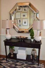 hall table decor foyer decorating