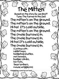 The mitten song the mitten on the mitten story printable