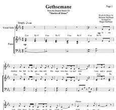 A remembrance of the atonement for lds families. Hoffman House Gethsemane Song Sheet Music