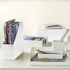 Office desk shelving Tall Office West Elm Lacquer Office Accessories West Elm