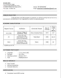 Resume Models 10 Sample Format For Freshers And Maker
