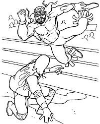 Highest Wrestling Color Pages Wrestlers0 Coloring Page Free 20221