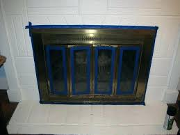 can you paint fireplace doors how to paint brass fireplace doors brass fireplace doors paint fireplace