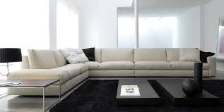 extra long white leather sofa
