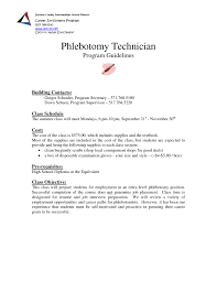 Phlebotomy Resume Unique Examples Templates Phlebotomist Pre