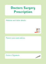 doctor prescription pad prescription form doctors surgery role play free early years