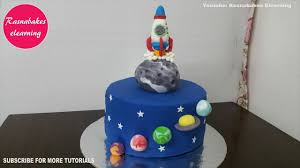Space Birthday Cake Designs Space Planet Galaxy Birthday Cake Design Ideas Decorating Tutorial Video At Home