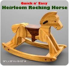 Free Wooden Rocking Horse Patterns