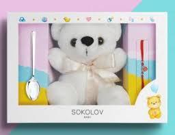 24001 Серебряный <b>подарочный набор</b> для малыша и мамы ...