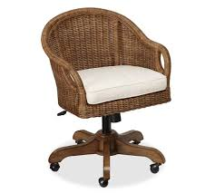 office furniture pottery barn. Wingate Rattan Swivel Desk Chair Office Furniture Pottery Barn R