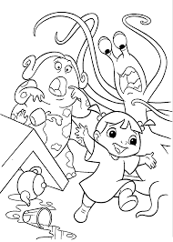 Snow Monster Coloring Pages Snow Monster Coloring Pages For Kids