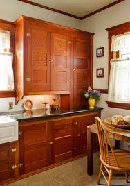 Restored Kitchen Cabinets Restored Cabinets In A Renovated Craftsman Kitchen Old House