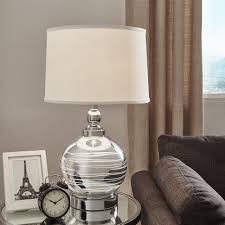 Galaxy LED Starburst Chrome Orb Table Lamp by Inspire Q