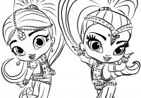 Shimmer Shine Coloring Pages Printable Coloring Page For Kids