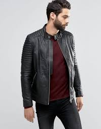 religion leather jacket with biker sleeve detail black men religion joggers black delicate colors