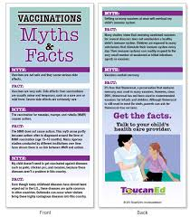 fears and facts vaccination educational and promotional materials vaccination myths rack cards view sample