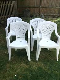 4 plastic garden chairs furniture can you paint uk