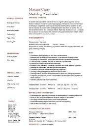 Marketing Coordinator Resume, Sales, Example, Sample, Advertising  throughout Facilities Coordinator Job Description Template