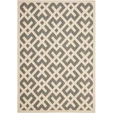 interlocking chevron all weather rug gray bone
