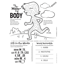 Parts Of My Body Sticker Activity Sheets Coloring Books