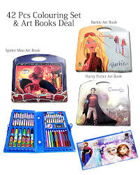 Buy kids <b>42 pcs</b> Coloring Set & Art Books Deal310 online at t4trendz ...