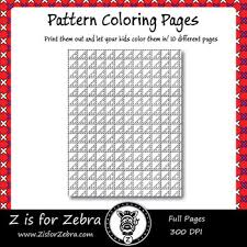 This can easily be pieced in a day! Digital Tessellation Coloring Book Full Page Patterns Set 3