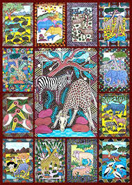 puzzle wall art animals jigsaw puzzle piece bright colorful puzzle featuring wild animals puzzle into wall