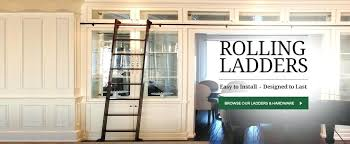 diy library ladder rolling ladder kits hardware interior barn doors within kit ideas 2 diy home diy library ladder library library diy rolling