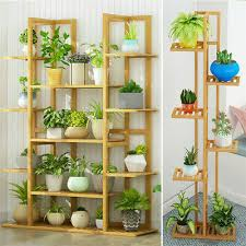 bamboo large plant stand garden flower