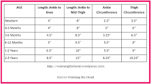 Leg Warmer Sizing Chart Crochet Leg Warmers Crochet Baby